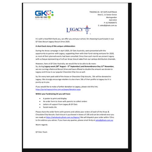 GF Oats Letter